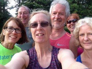 Selfie of running group